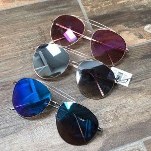 Accessories - Set of 3 reflective lense aviators. NWT!